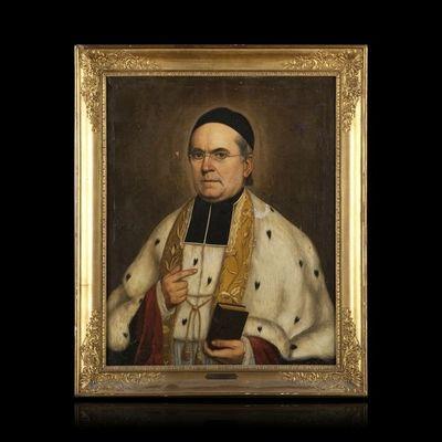 Expertissim - Portrait-Expertissim-ECOLE FRANCAISE du XIXe si�cle. Portrait de Monsei