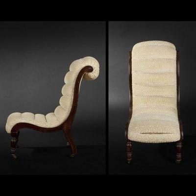 Expertissim - Chauffeuse-Expertissim-Chauffeuse de la seconde moitié du XIXe siècle