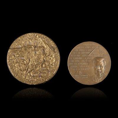 Expertissim - M�daille-Expertissim-Deux m�dailles en bronze