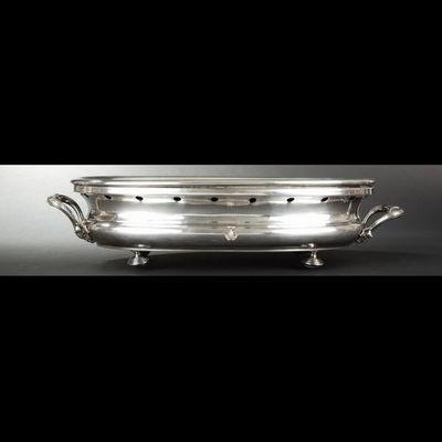 Expertissim - Chauffe-plat-Expertissim-Chauffe-plat ovale et chauffe-plat rond en métal a
