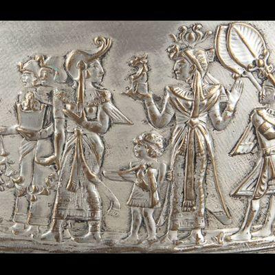 Expertissim - Coupe décorative-Expertissim-Coupe centre de table en forme d'athénienne en mé