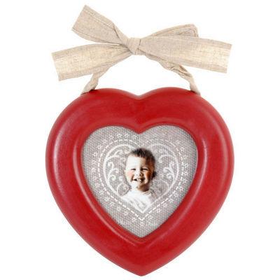 Maisons du monde - Cadre Photo Enfant-Maisons du monde-Cadre coeur ruban rouge Brocante