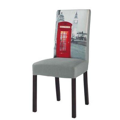 Maisons du monde - Housse de chaise-Maisons du monde-Housse de chaise grise Margaux