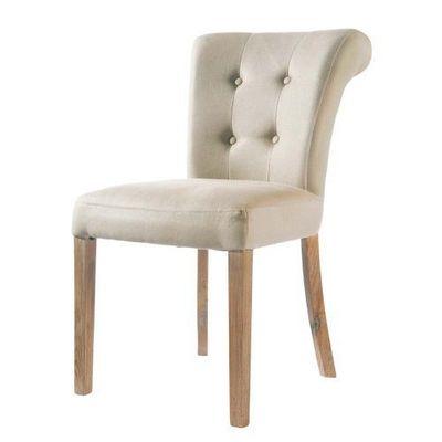 Maisons du monde - Chaise-Maisons du monde-Chaise lin Boudoir