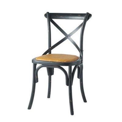 Maisons du monde - Chaise-Maisons du monde-Chaise noire Traditio