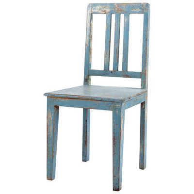 Maisons du monde - Chaise-Maisons du monde-Chaise bleu grisé Avignon