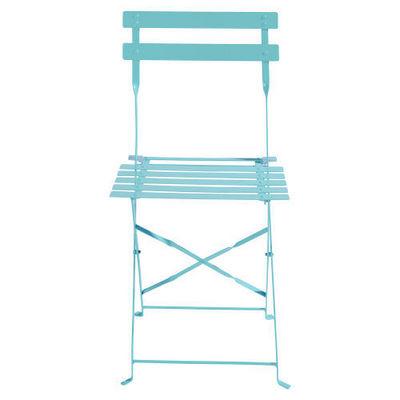 Maisons du monde - Chaise de jardin-Maisons du monde-Lot de 2 chaises turquoise Confetti