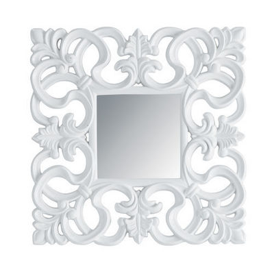 Maisons du monde - Miroir-Maisons du monde-Miroir Rivoli carré blanc