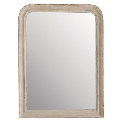 Maisons du monde - Miroir-Maisons du monde-Miroir Elianne arrondi beige 60x80