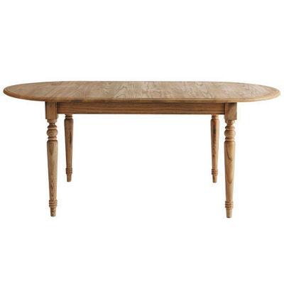 Maisons du monde - Table de repas ovale-Maisons du monde-Table à dîner chêne naturel Faustine