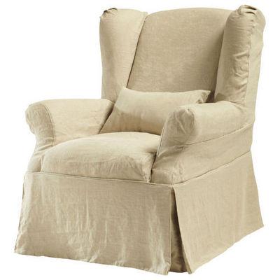 Maisons du monde - Housse de fauteuil-Maisons du monde-Housse lin ficelle Cottage