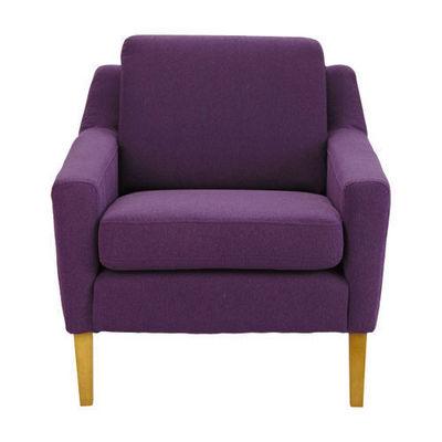 Maisons du monde - Fauteuil-Maisons du monde-Fauteuil linara violet Mad Men