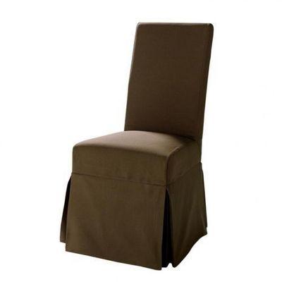 Maisons du monde - Housse de chaise-Maisons du monde-Housse chocolat Margaux