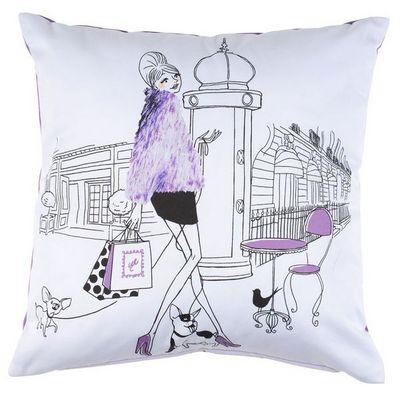 La Chaise Longue - Coussin carré-La Chaise Longue-Coussin fashion les parisiennes polyester et coton