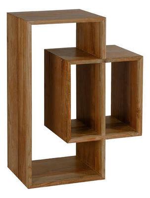 INWOOD - Etagère-INWOOD-Rangement 3 niches majestic en teck recyclé 80x35x