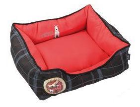 LES AVENTURES DE TINTIN - Panier � chien-LES AVENTURES DE TINTIN-Corbeille rectangle rouge les aventures de tintin