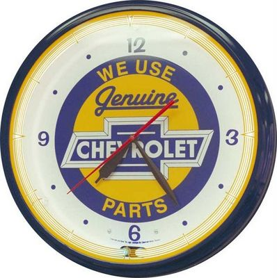US Connection - Horloge murale-US Connection-Horloge Néon Chevy Parts
