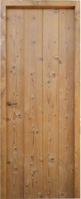 Portes Anciennes - Porte de communication pleine-Portes Anciennes-Modèle à lames verticales en pin thermotraité