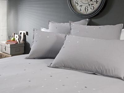 BLANC CERISE - Parure de lit-BLANC CERISE-Housse de couette - percale (80 fils/cm²) - brodée