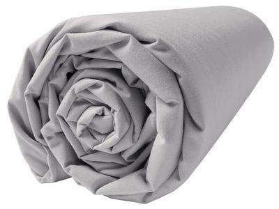 BLANC CERISE - Drap housse-BLANC CERISE-Drap housse - percale (80 fils/cm²) - uni gris per