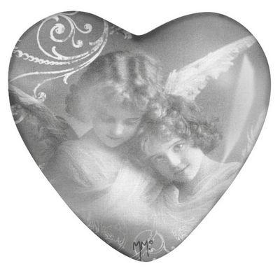 Mathilde M - Presse-papier-Mathilde M-Sulfure coeur Plumes d'anges
