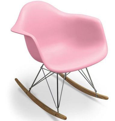 WHITE LABEL - Rocking chair-WHITE LABEL-Rocking chair Inspiration Eames