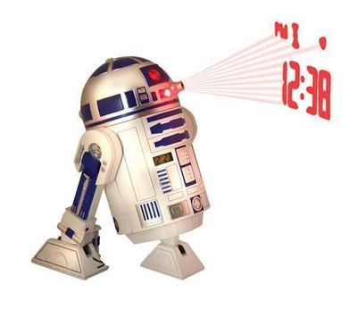 BUNKERBOUND - Réveil matin enfant-BUNKERBOUND-Rveil projecteur Star Wars R2D2