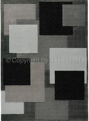 Arte Espina - Tapis contemporain-Arte Espina-Tapis REFLECTIVE 6 gris 200x300 en Acrylique