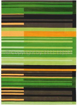 Arte Espina - Tapis contemporain-Arte Espina-Tapis de chambre COLOUR CODES vert 120x180 en Acry