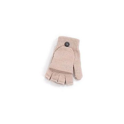 WHITE LABEL - Gants-WHITE LABEL-Moufle-mitaine extensible avec bouton Femme