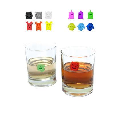 WHITE LABEL - Marque-verre-WHITE LABEL-Marque verre fantaisie en silicone