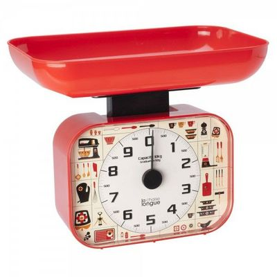 La Chaise Longue - Balance de cuisine électronique-La Chaise Longue-Balance Cuisine 70's Rouge
