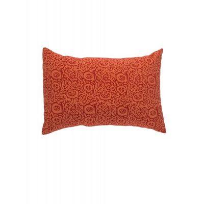 BLANC D'IVOIRE - Coussin rectangulaire-BLANC D'IVOIRE-Taie ELISA Mandarine