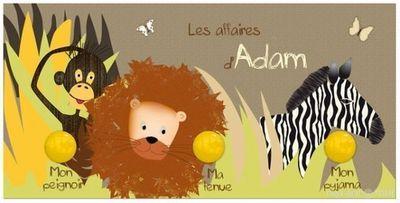 BABY SPHERE - Porte-manteau enfant-BABY SPHERE-Portemanteau 49,5x24,5cm jungle