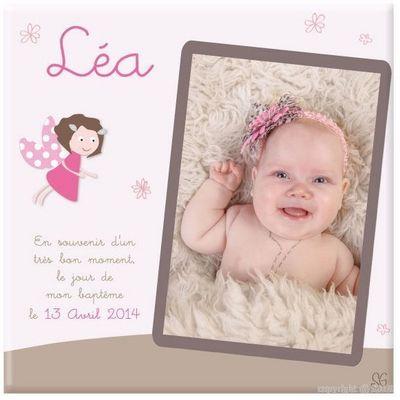 BABY SPHERE - Cadre Photo Enfant-BABY SPHERE-Toile photo baptême de princesse