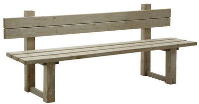 BARCLER - Banc de jardin-BARCLER-Banc de jardin avec dossier en bois traité autocla