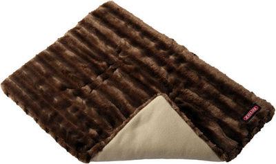 ZOLUX - Lit pour chien-ZOLUX-Tapis warmy en fourrure synthétique marron 50x50cm