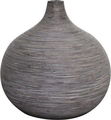 Aubry-Gaspard - Soliflore-Aubry-Gaspard-Vase boule en rotin gris