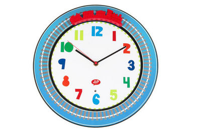 J.I.P Junior In Progress - Horloge enfant-J.I.P Junior In Progress-Horloge murale sonore train happy traffic 34.5x4,5