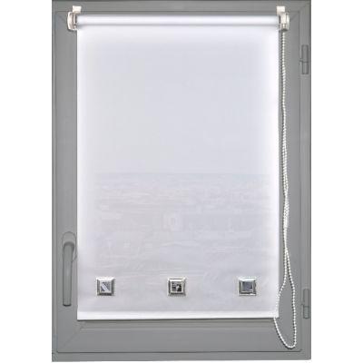 Luance - Store occultant-Luance-Store enrouleur tamisant oeillets 45x180cm  blanc