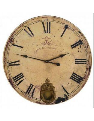 L'HERITIER DU TEMPS - Horloge murale-L'HERITIER DU TEMPS-Horloge Café des Marguerites 46cm