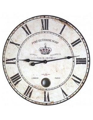 L'HERITIER DU TEMPS - Horloge murale-L'HERITIER DU TEMPS-Horloge Murale en bois à balancier 58cm