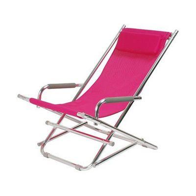 La Chaise Longue - Transat-La Chaise Longue-Chaise Longue Alu Rose