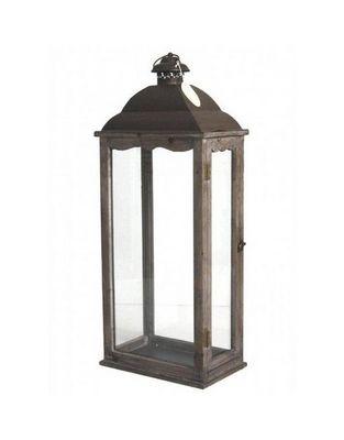 L'HERITIER DU TEMPS - Lanterne d'extérieur-L'HERITIER DU TEMPS-Grande lanterne fer et bois