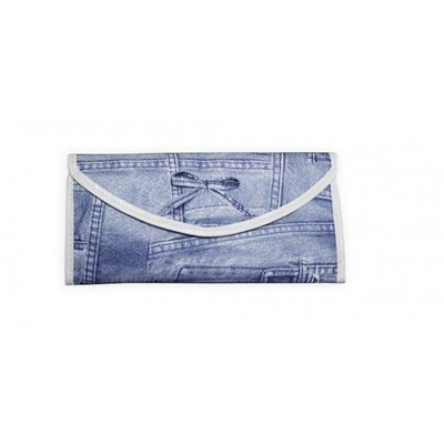 INVOTIS - Trousse de maquillage-INVOTIS-Accessoire maquillage Jeans bleu