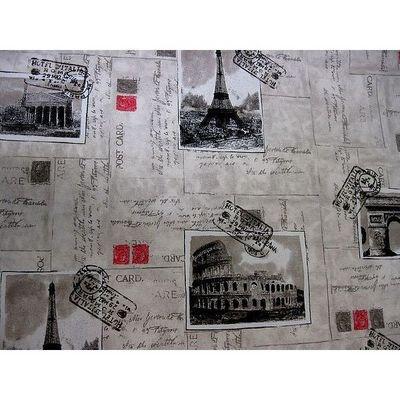 Le Quartier des Tissus - Tissu imprimé-Le Quartier des Tissus-Tissu Imprime Carte Postale de Paris