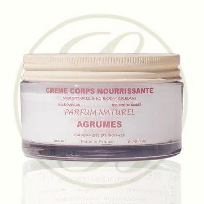 Savonnerie De Bormes - Lait corporel-Savonnerie De Bormes-Crème de corps aux karité & argan, parfum Agrumes