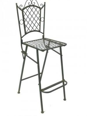 Demeure et Jardin - Chaise haute de bar-Demeure et Jardin-Chaise de bar Vert De Gris