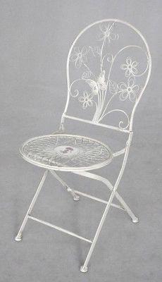 Demeure et Jardin - Chaise de jardin-Demeure et Jardin-Chaise Medaillon Fleuri fer forgé