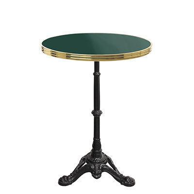 Ardamez - Table bistrot-Ardamez-Table de bistrot émaillée vert / laiton / fonte